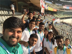 IISM Student at India Vs England Match