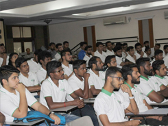 IISM Student at lecture
