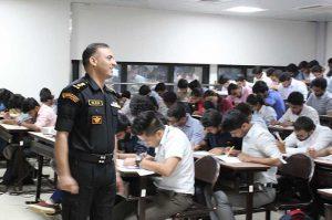 Colonel Rajesh Langeh with iism Student