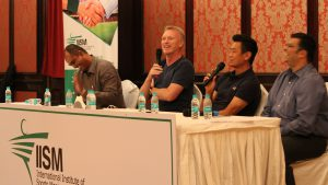 Bhaichung Bhutia and David Moye