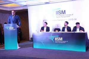 Nilesh Kulkarni at iism Convocation 2015 -2016