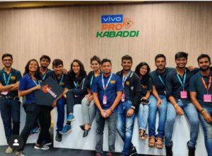 IISM students at Pro Kabaddi League 2019