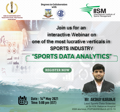 Webinar on Sports Data Analytics on 14th May, 2021