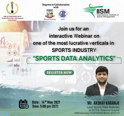 Webinar on Sports Data Analytics on 14th May, 2021